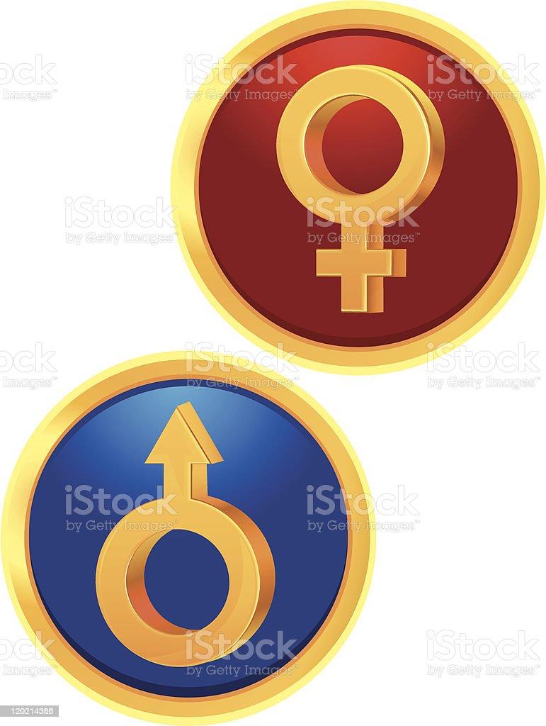 Signs Venus and Mars royalty-free stock vector art