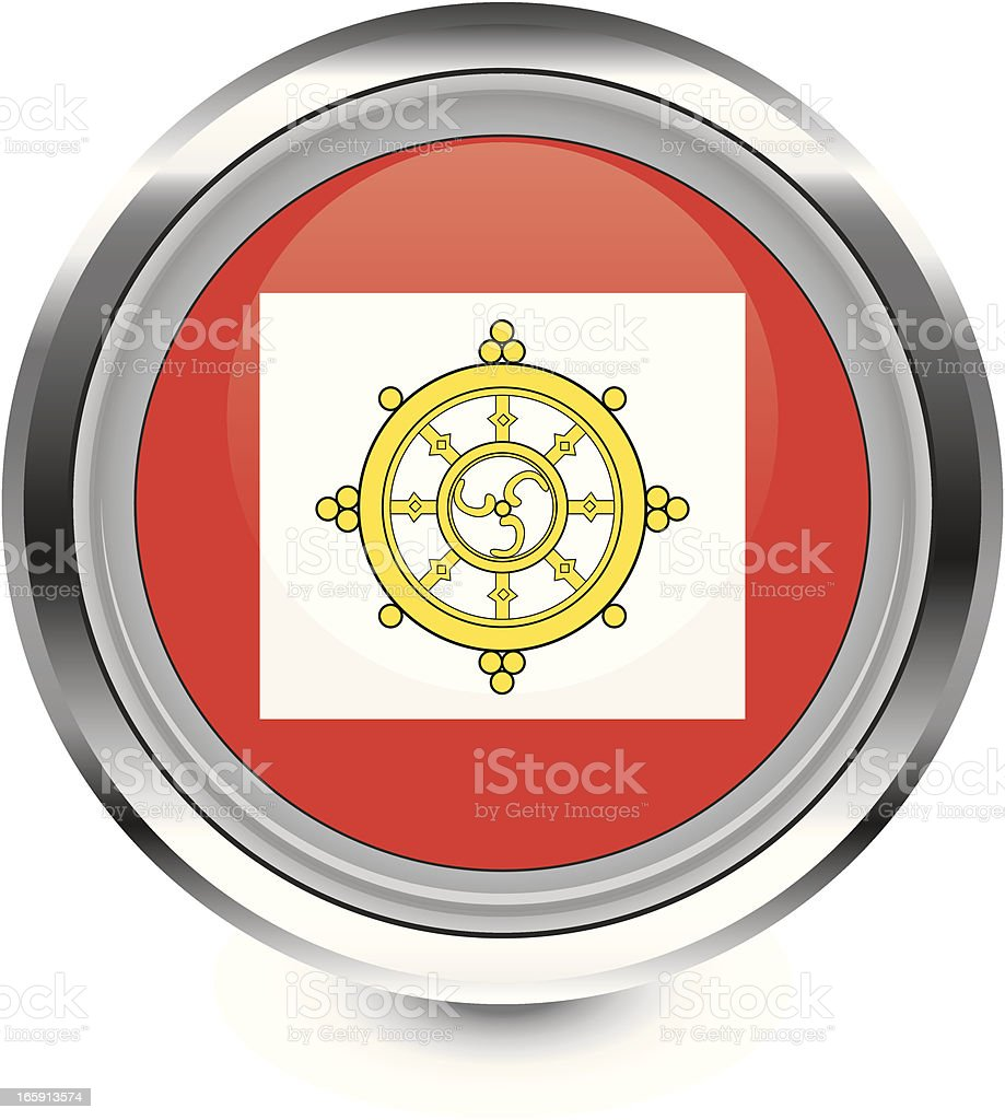 Sikkim Monarchy flag icon vector art illustration