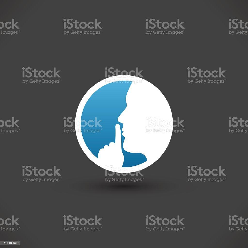 Silence vector icon vector art illustration
