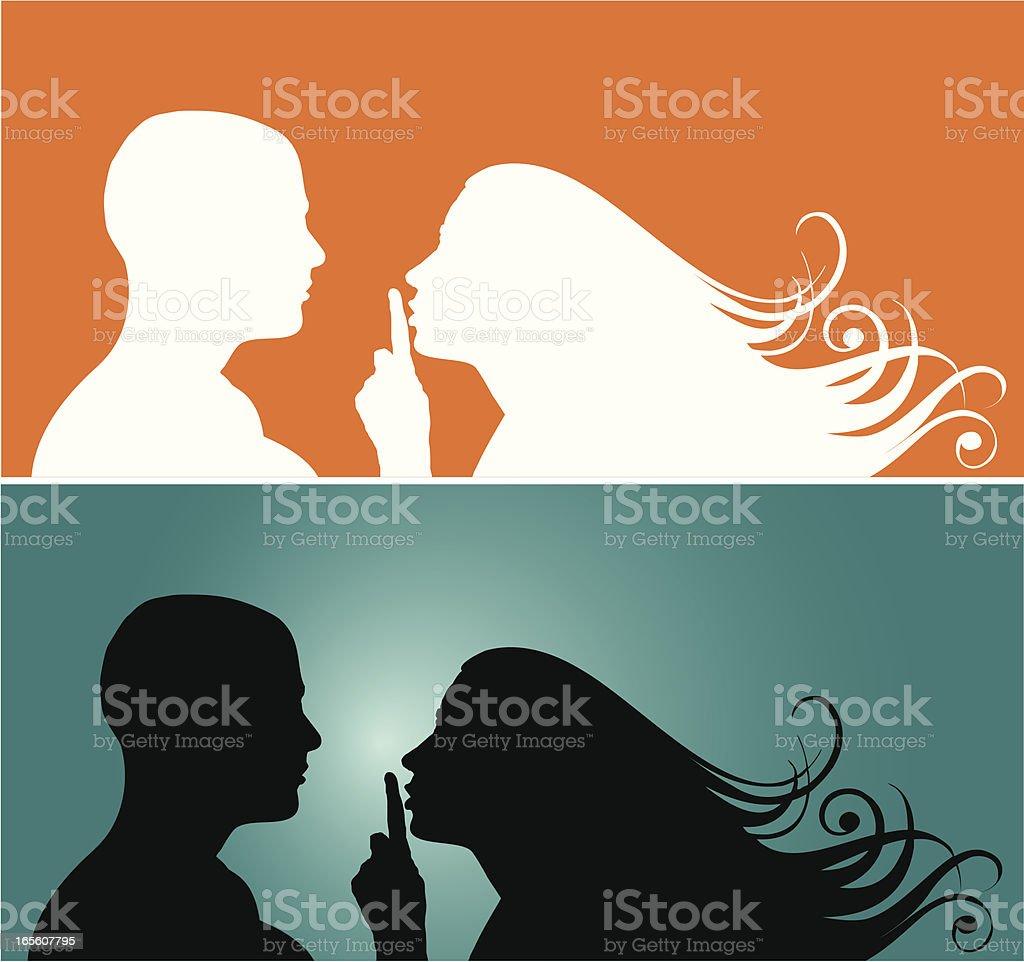 Silence vector art illustration