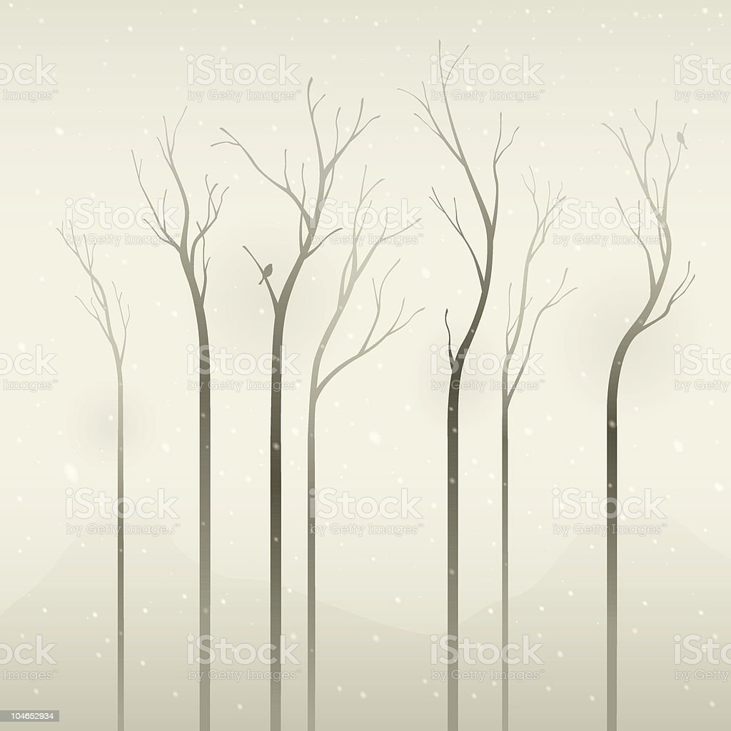 silent winter royalty-free stock vector art