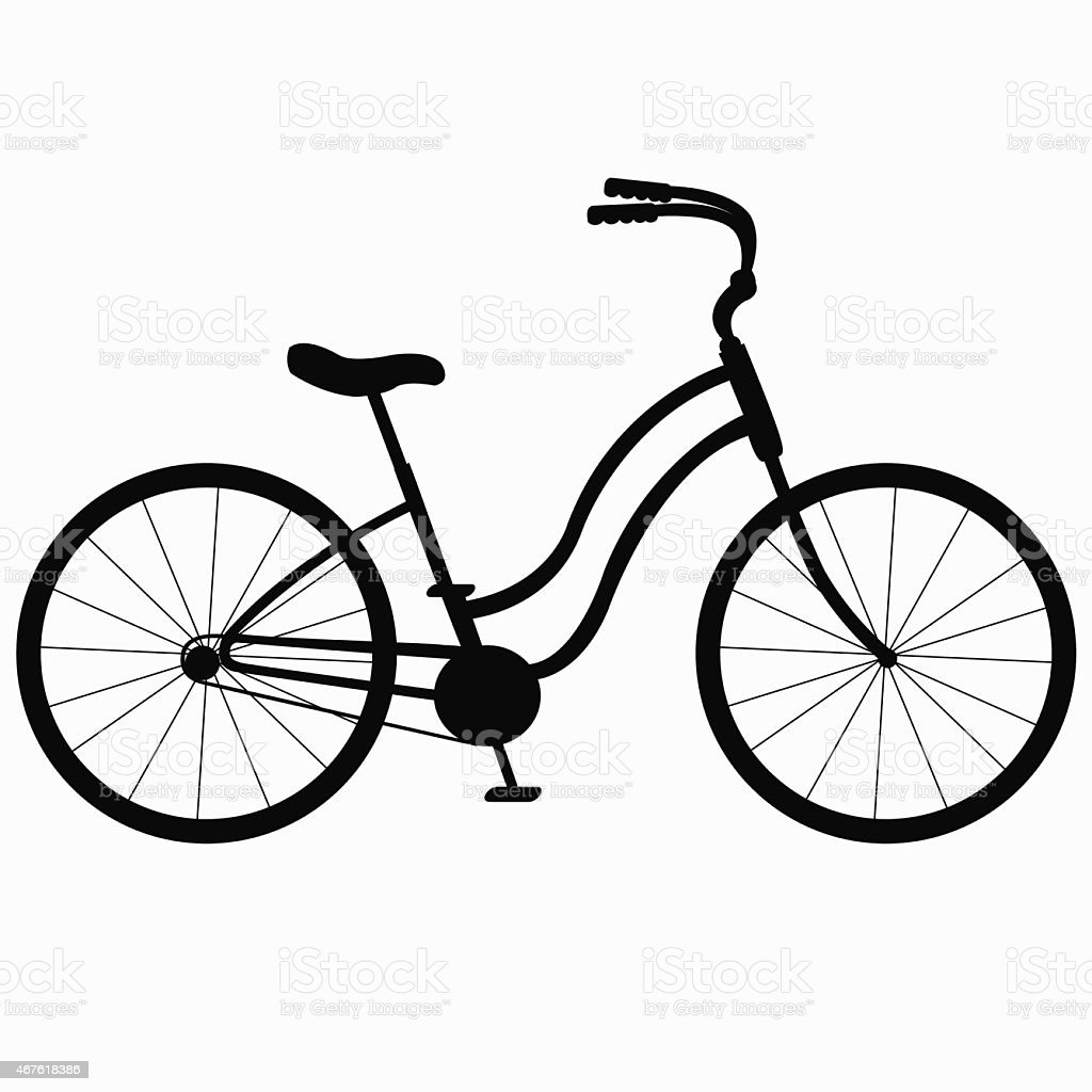 silhouette Bicycle vector art illustration