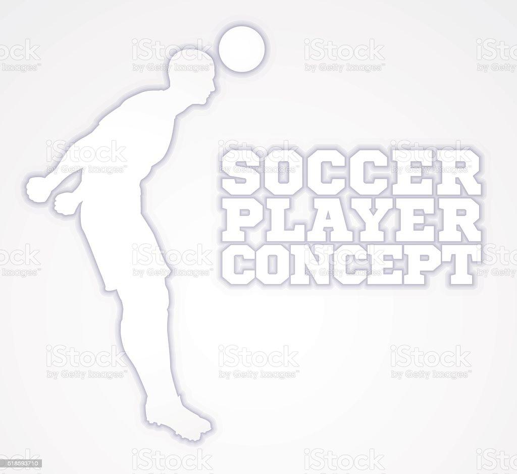 Silhouette Football Player Concept vector art illustration