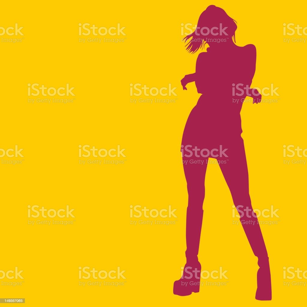 silhouette - girl 18 royalty-free stock vector art