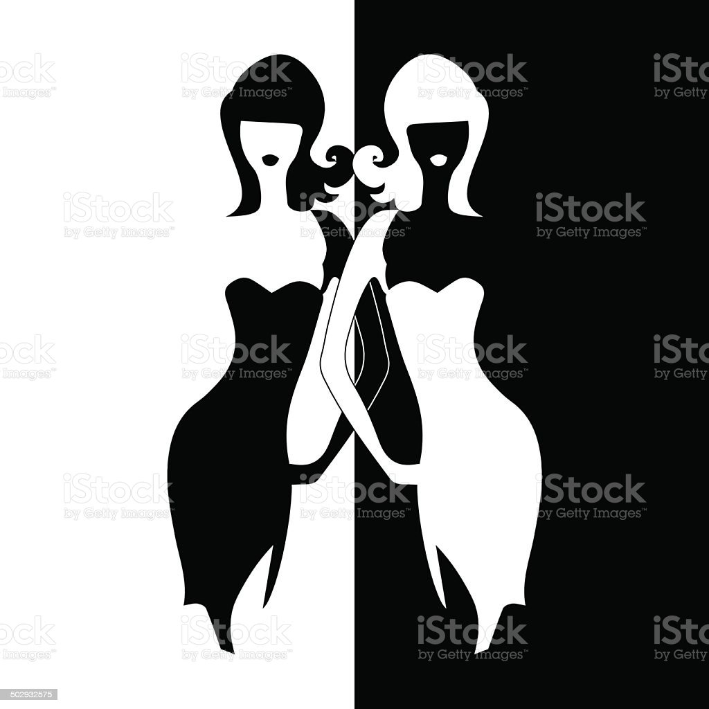 silhouette girl model sheath dress royalty-free stock vector art