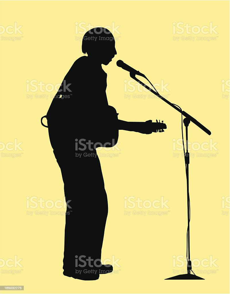 Silhouette guitarist royalty-free stock vector art