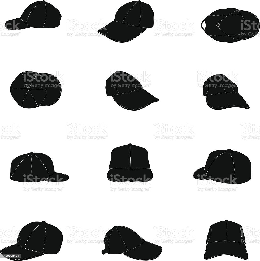 Cap silhouette royalty-free stock vector art