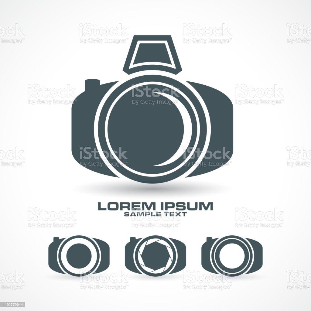 silhouette icon set vector camera vector art illustration