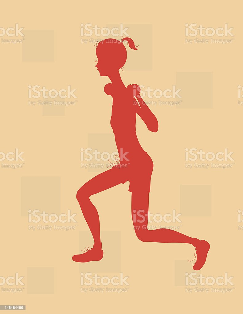 Silhouette Lunges royalty-free stock vector art