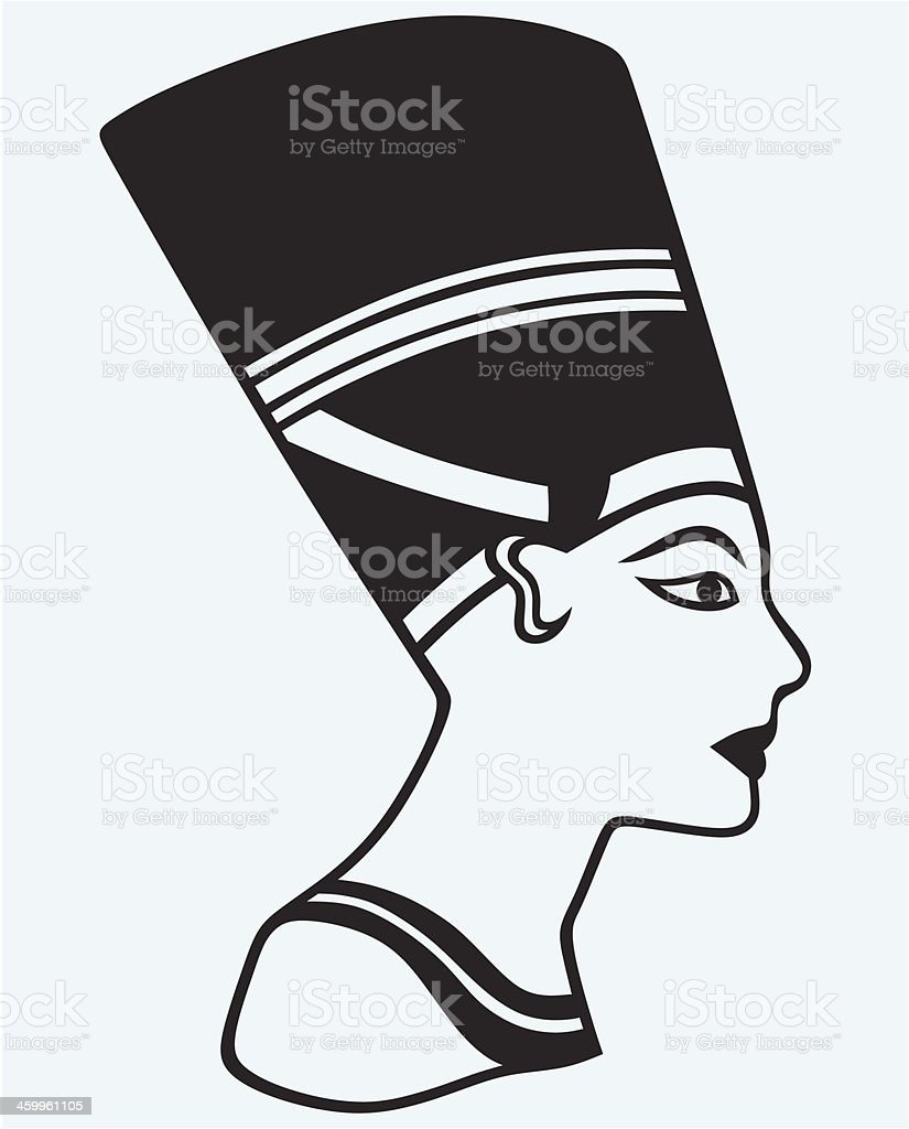 Silhouette Nefertiti vector art illustration
