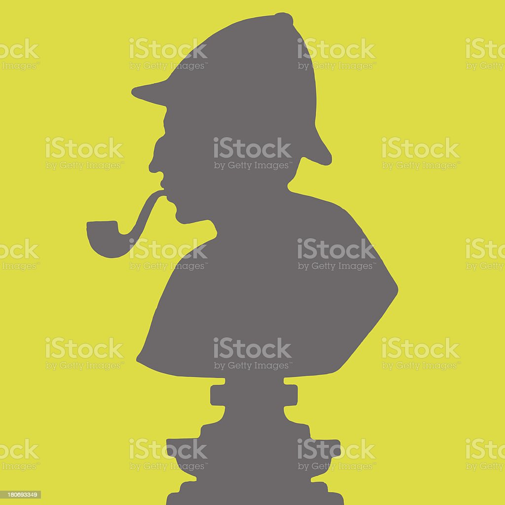 Silhouette of a Detective royalty-free stock vector art