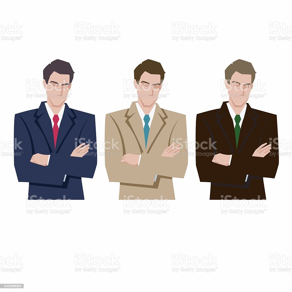 silhouette of a mans in a business suit royalty-free stock vector art