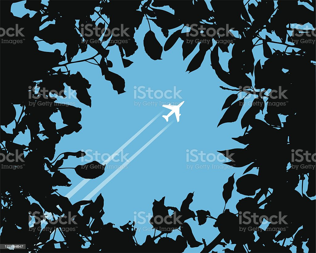 Silhouette of a plane royalty-free stock vector art