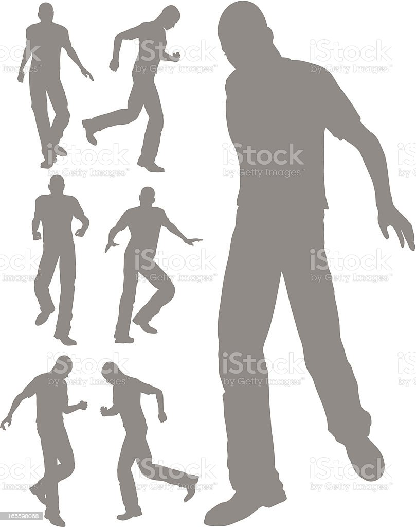 Silhouette of a walking pose royalty-free stock vector art