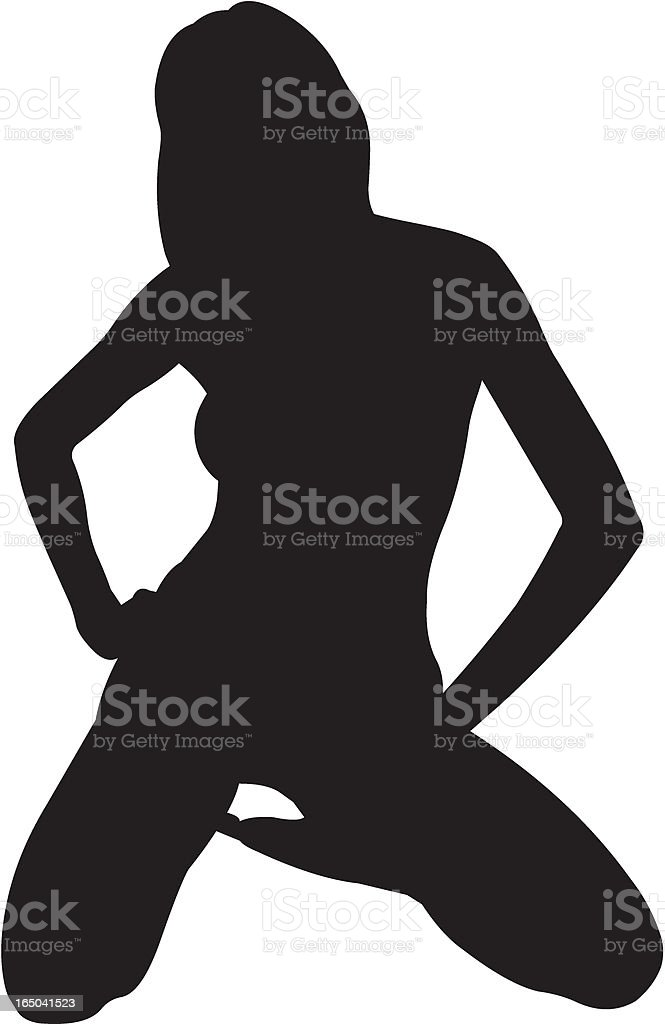 Silhouette of a woman royalty-free stock vector art