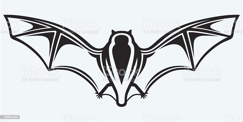 Silhouette of bat royalty-free stock vector art