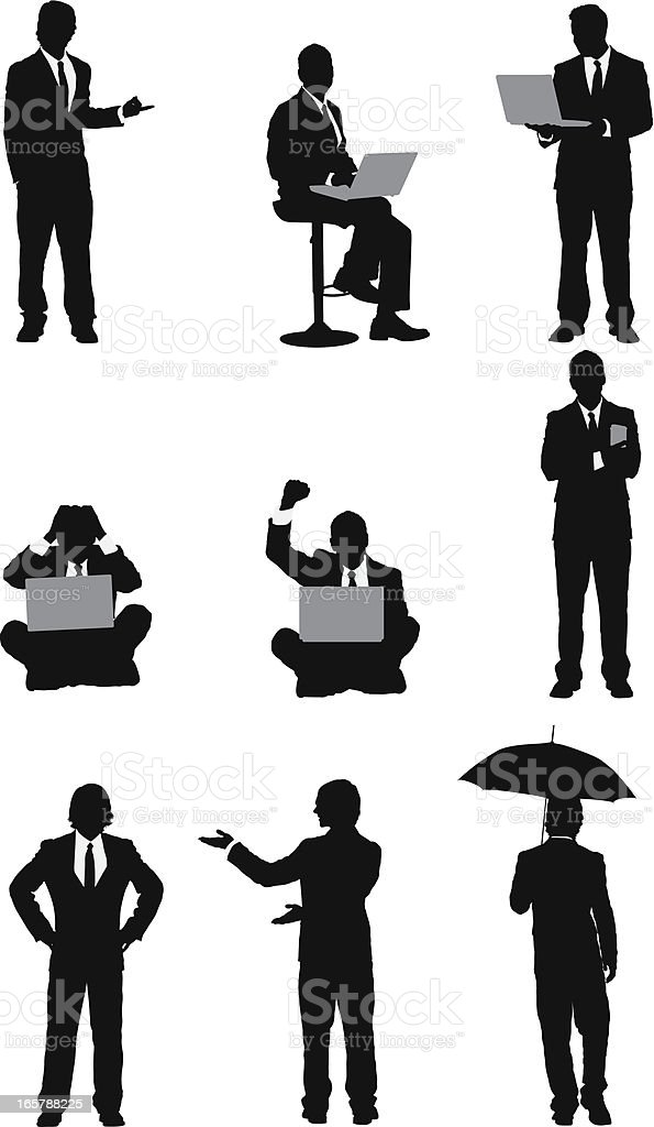 Silhouette of business people royalty-free stock vector art