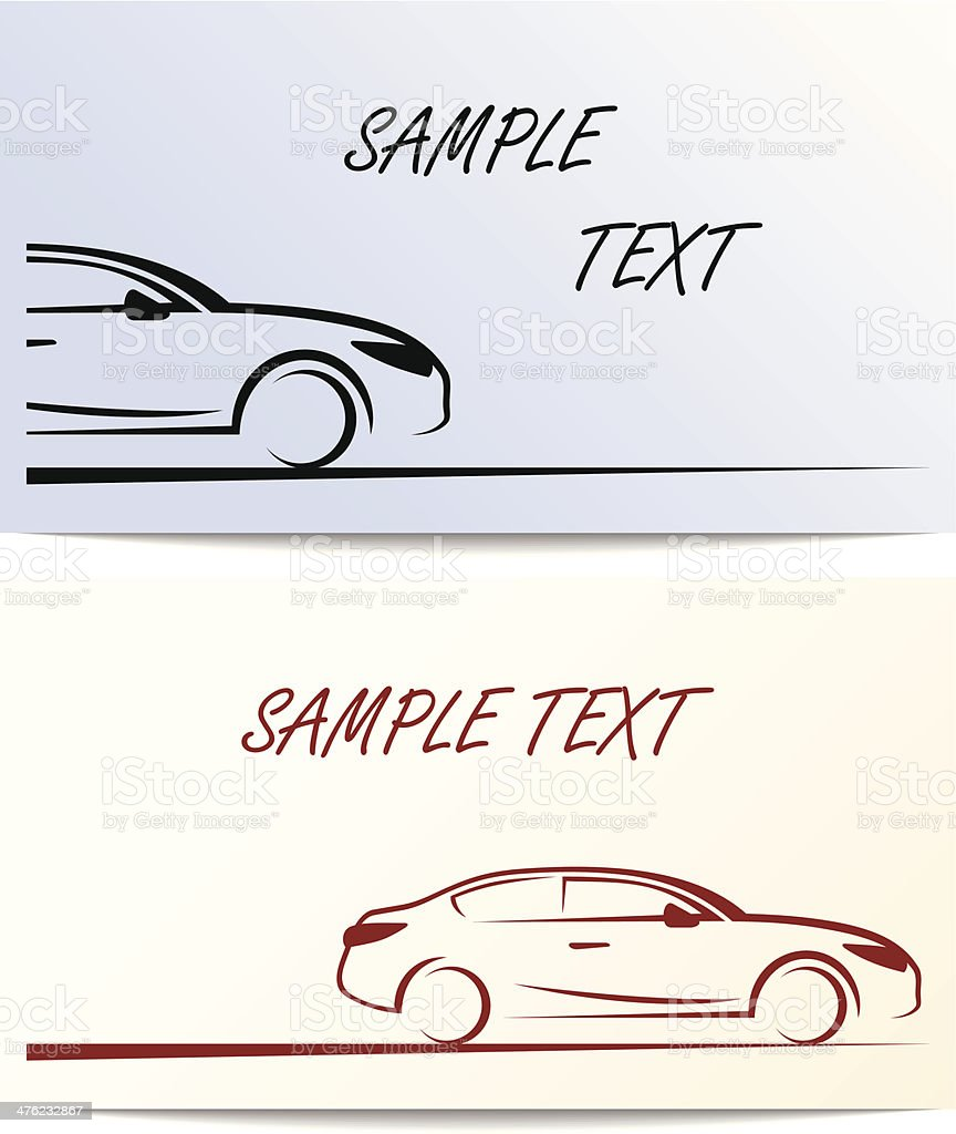 Silhouette of car. royalty-free stock vector art