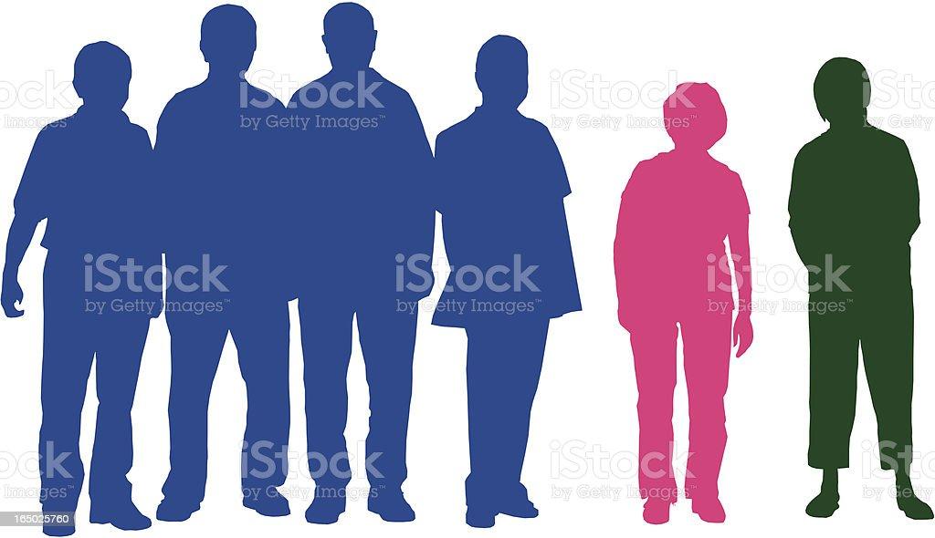 silhouette of elderly people (vector) royalty-free stock vector art