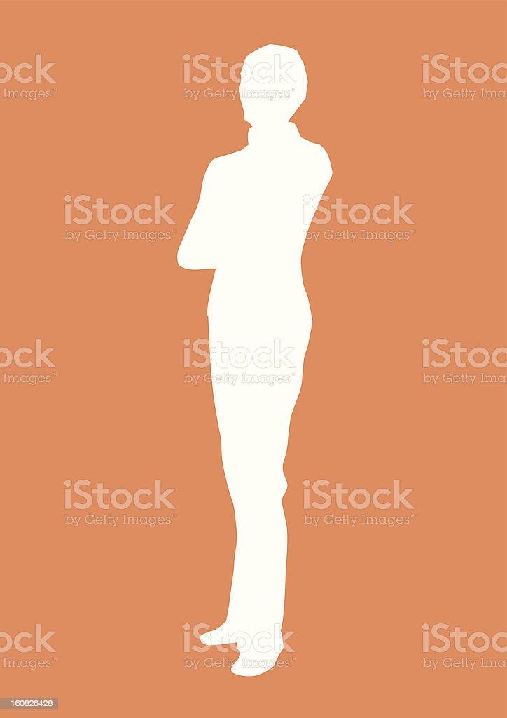 silhouette of female A vector art illustration