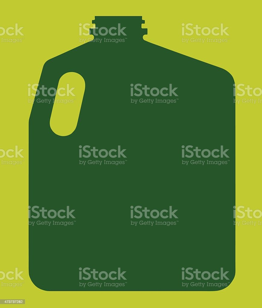 Silhouette of Gallon Container vector art illustration