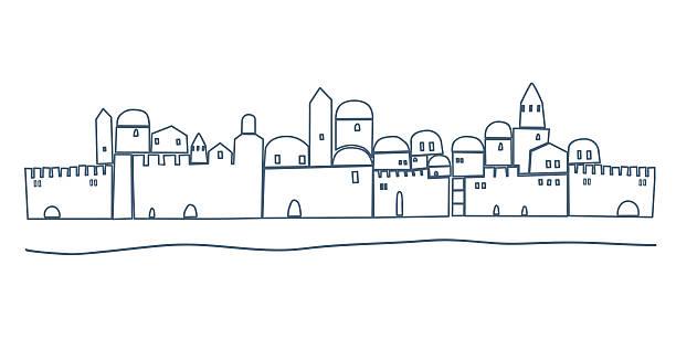 Line Art Jerusalem : Israel clip art vector images illustrations istock