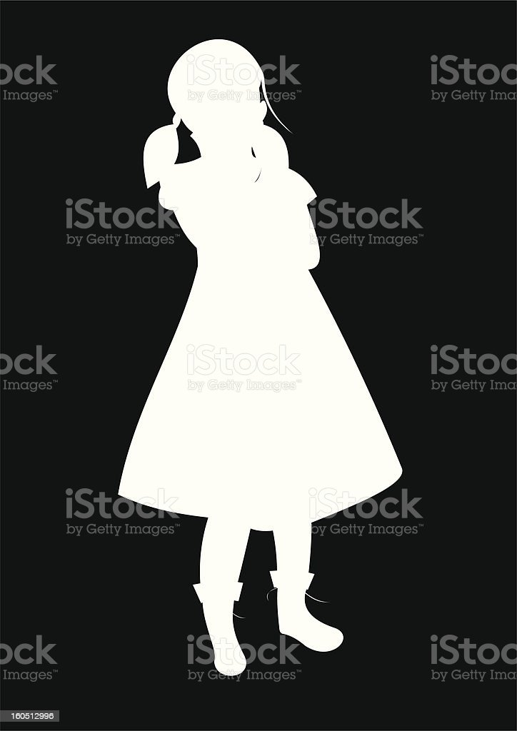 silhouette of one child royalty-free stock vector art