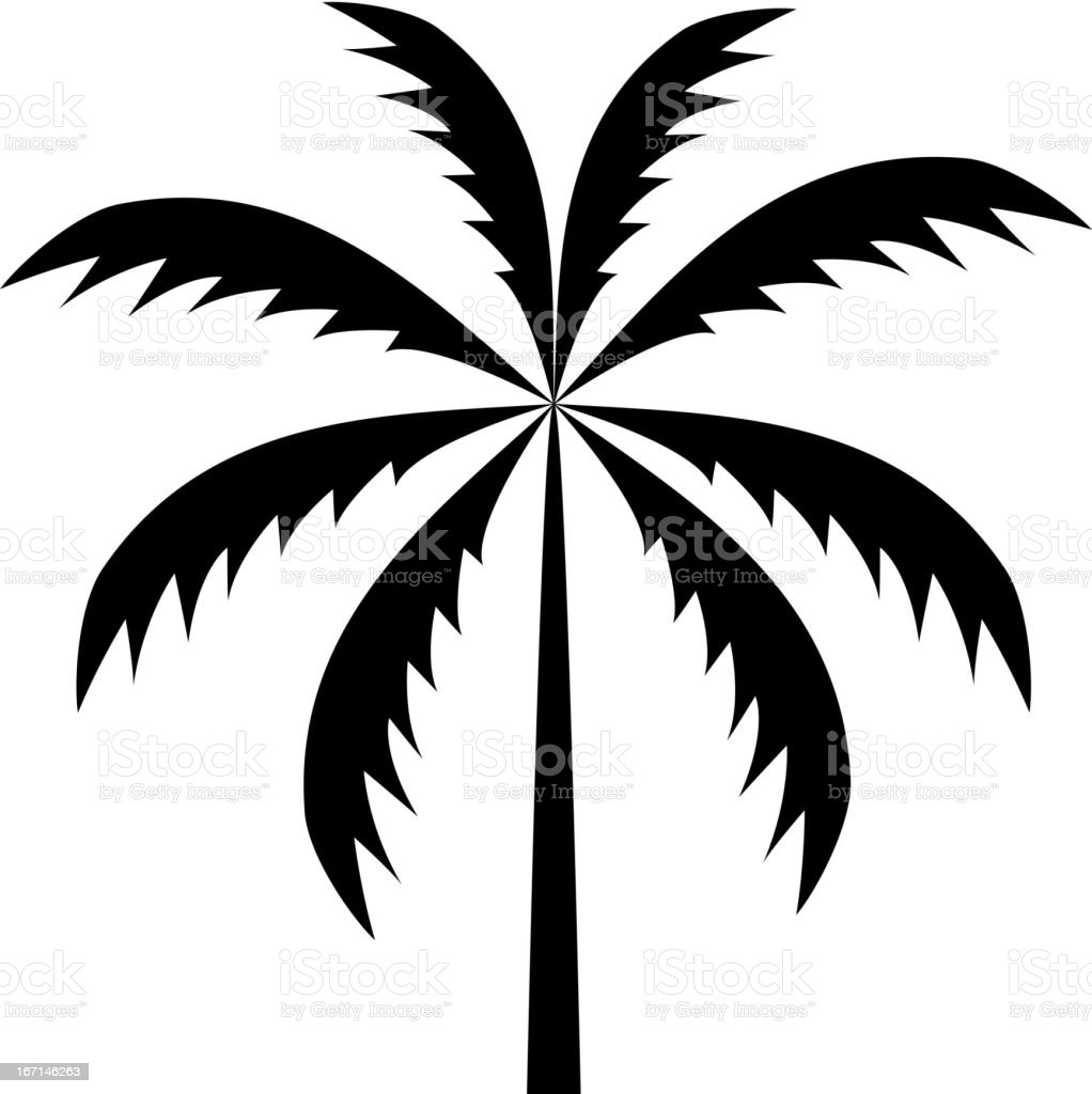 silhouette of palm tree. Vector illustration. royalty-free stock vector art