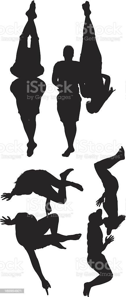 Silhouette of people vector art illustration