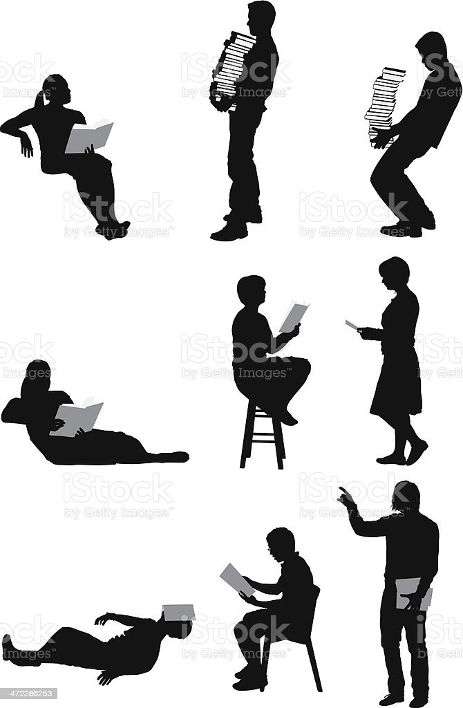 vector silhouette of people - photo #46