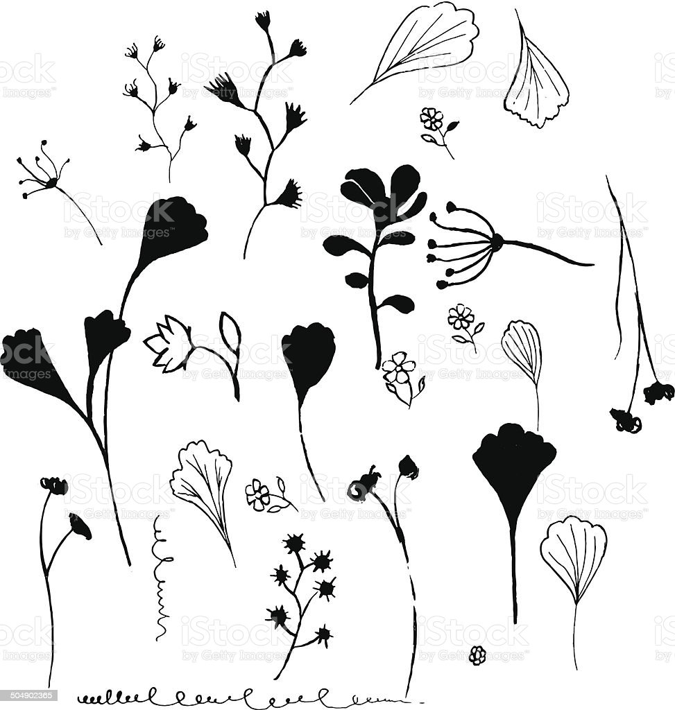 Silhouette of plants. royalty-free stock vector art