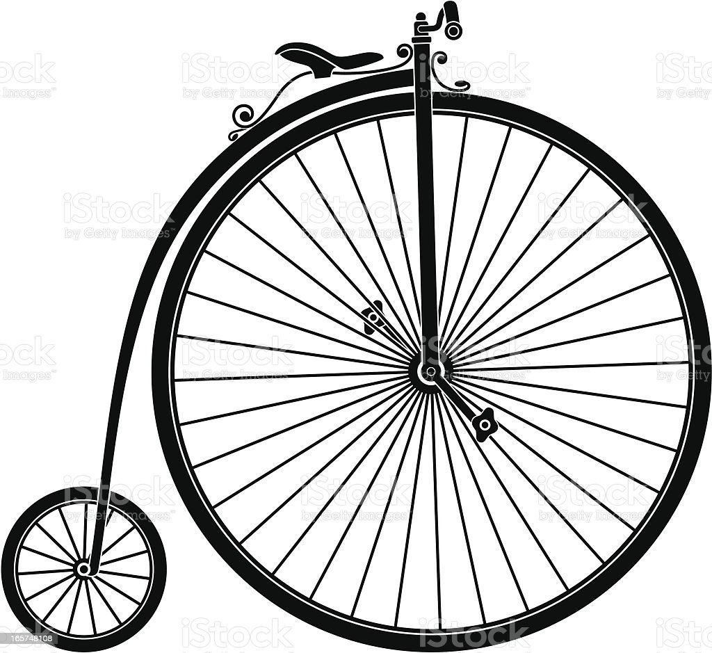 Silhouette of Retro Bicycle royalty-free stock vector art