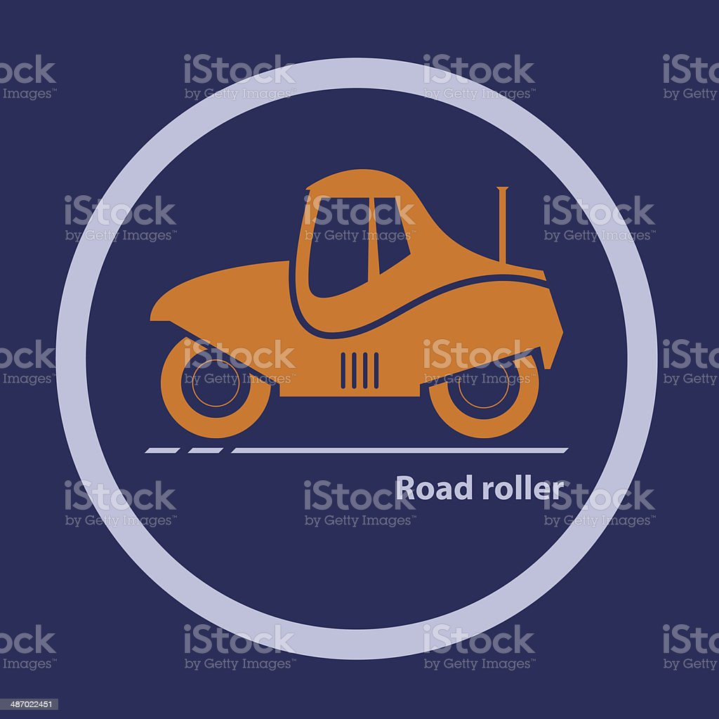 Silhouette of road roller royalty-free stock vector art