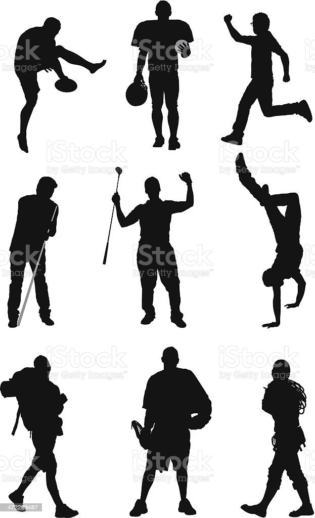 Silhouette of sports person royalty-free stock vector art