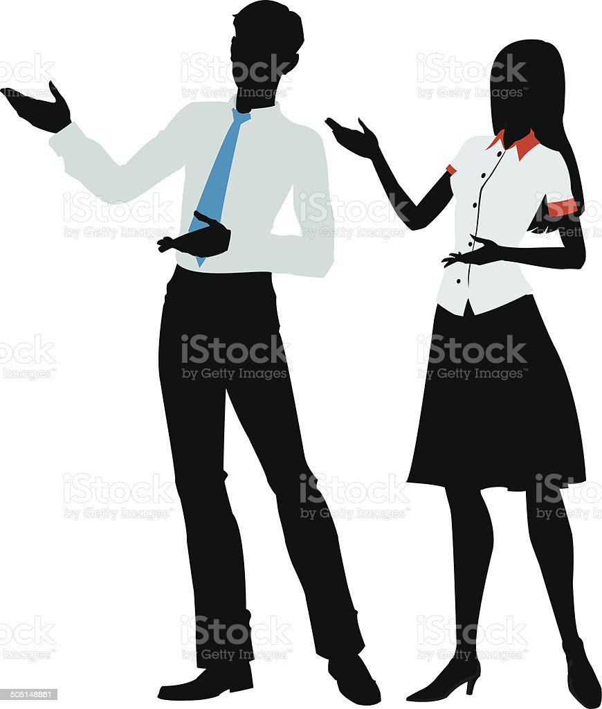 silhouette of  woman and men presenting royalty-free stock vector art