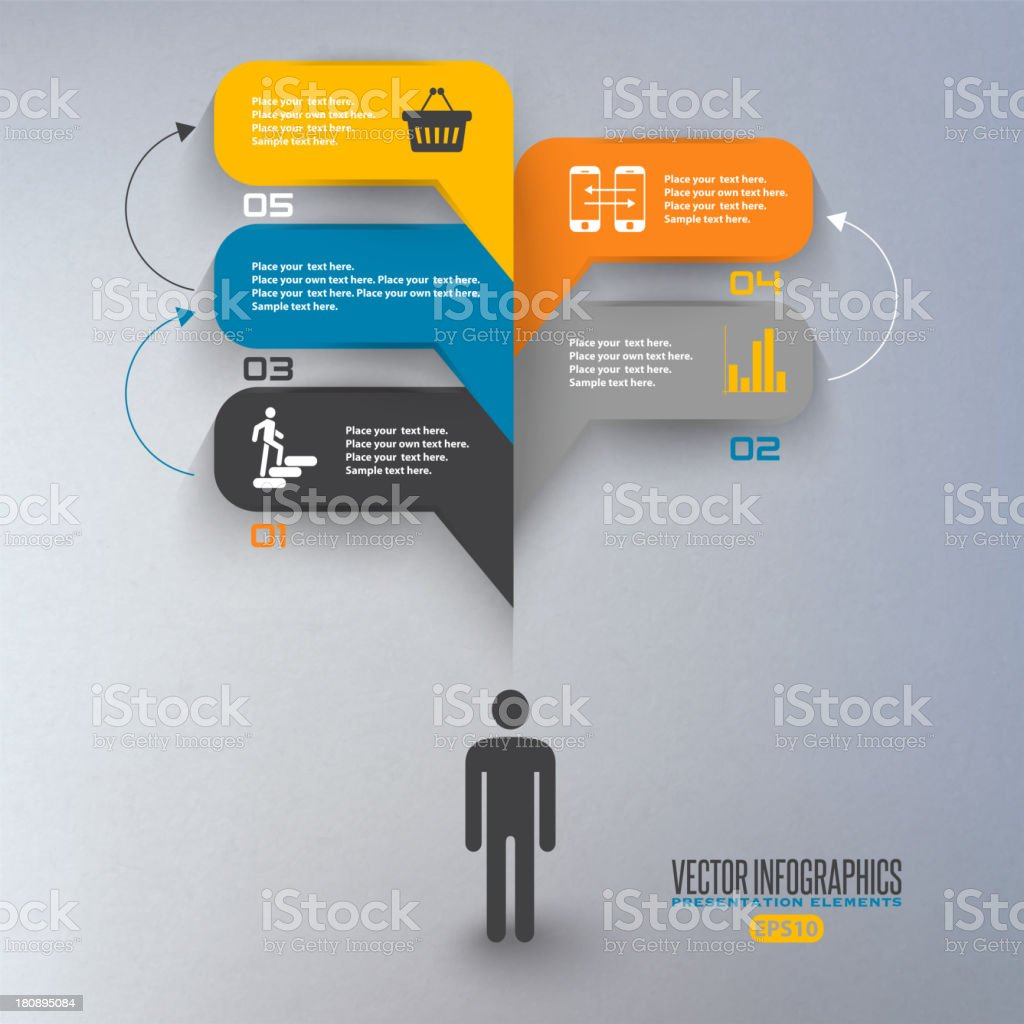A silhouette producing speech bubbles paper illustration royalty-free stock vector art