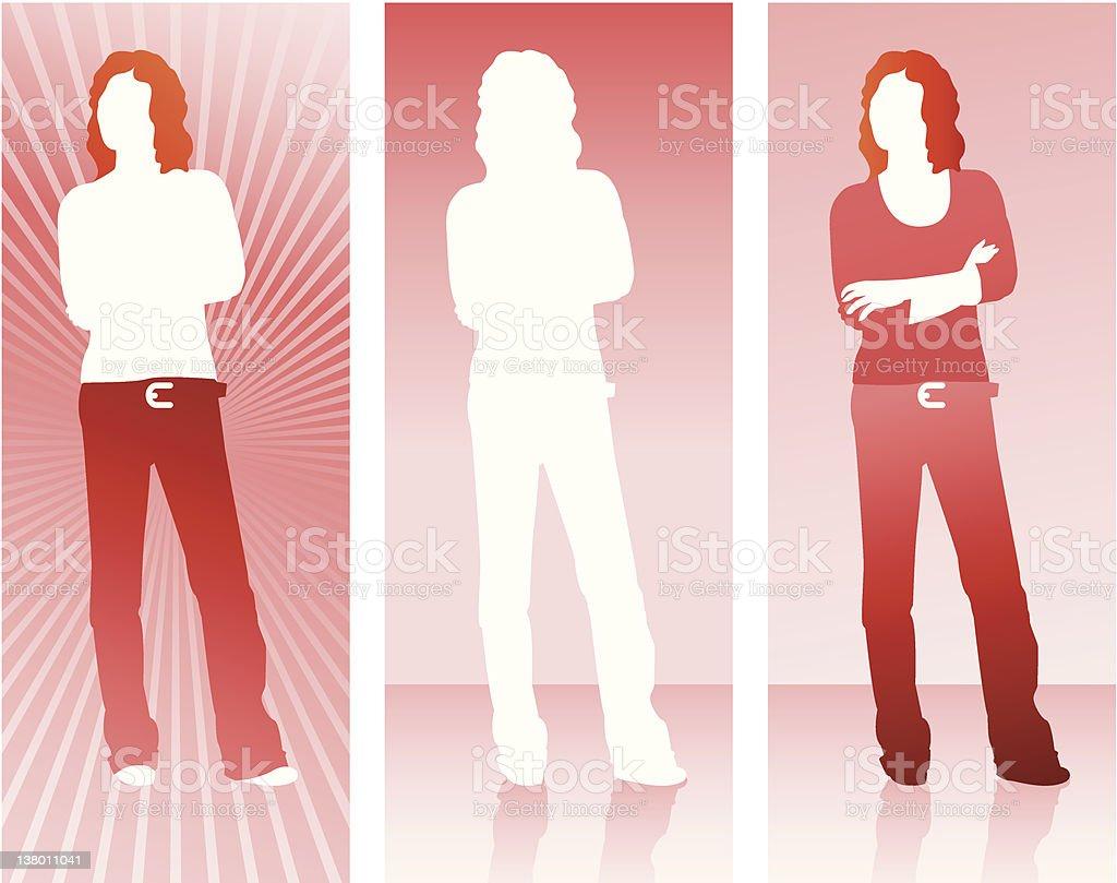 Silhouette Series - Female royalty-free stock vector art