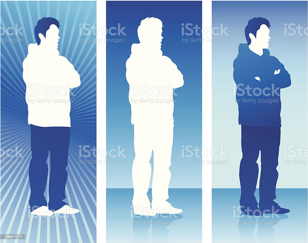 Silhouette Series - Male royalty-free stock vector art
