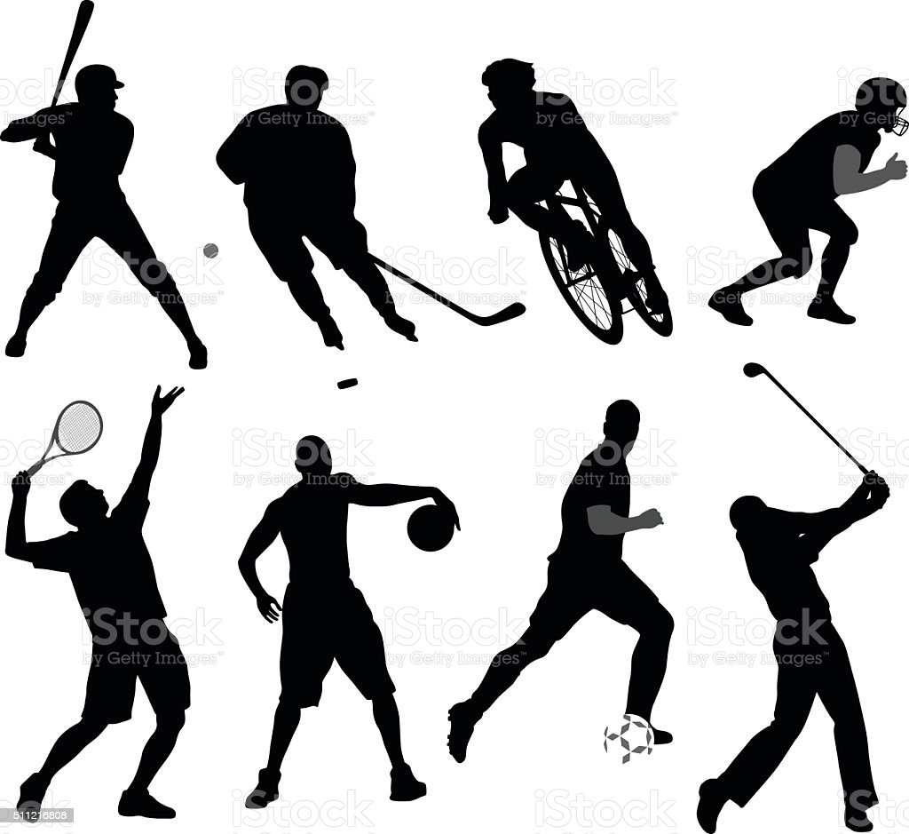 Silhouette Sport Variety vector art illustration