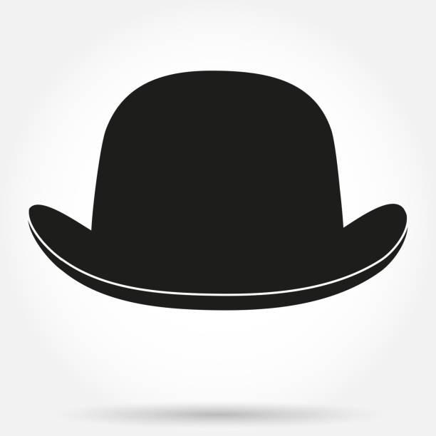 Bowler Hat Clip Art, Vector Images & Illustrations - iStock