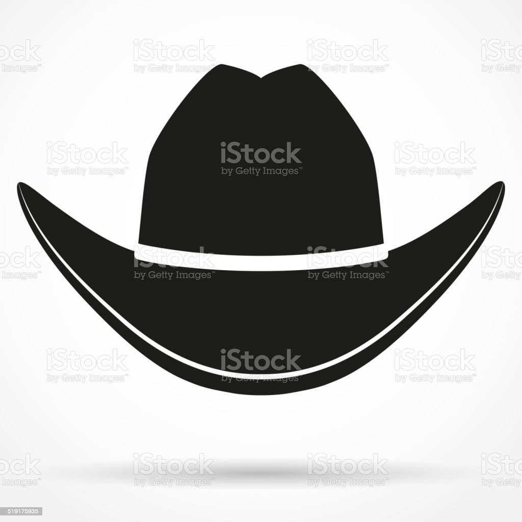 Silhouette symbol of  cowboy hat. Vector Illustration vector art illustration