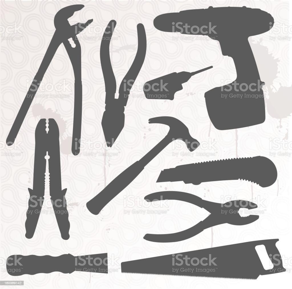 Silhouette Tool Set Two - Illustration royalty-free stock photo