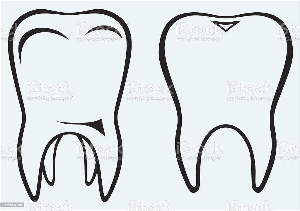 Silhouette tooth royalty-free stock vector art