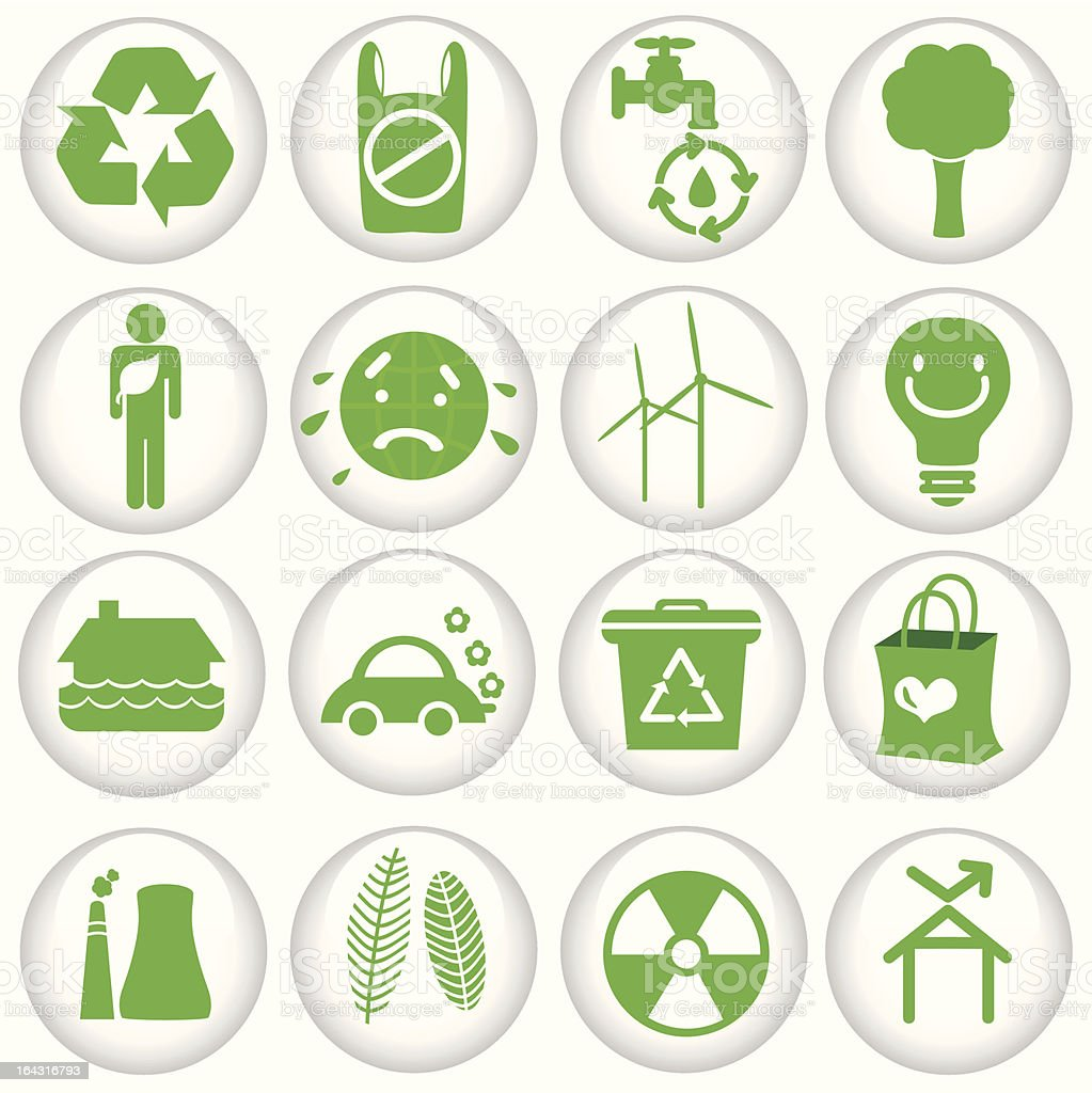 Silhouette : vector Icons (Global Warming, energy saving, green ecology) Set#2 royalty-free stock vector art