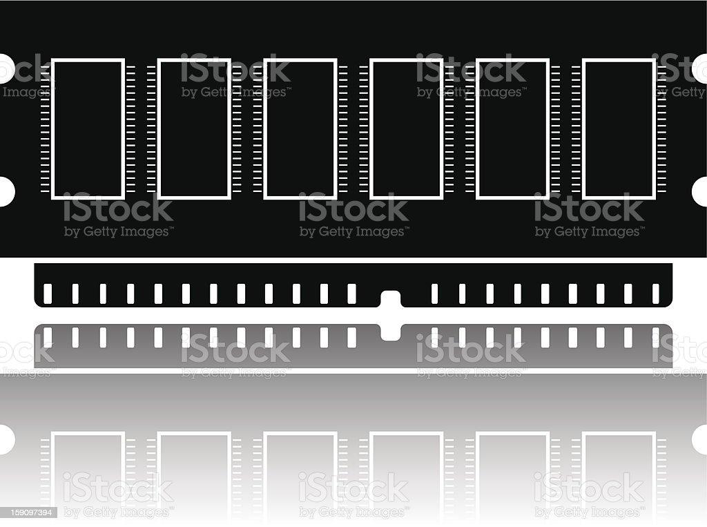 RAM silhouette royalty-free stock vector art