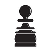 silhouetted chess piece pawn