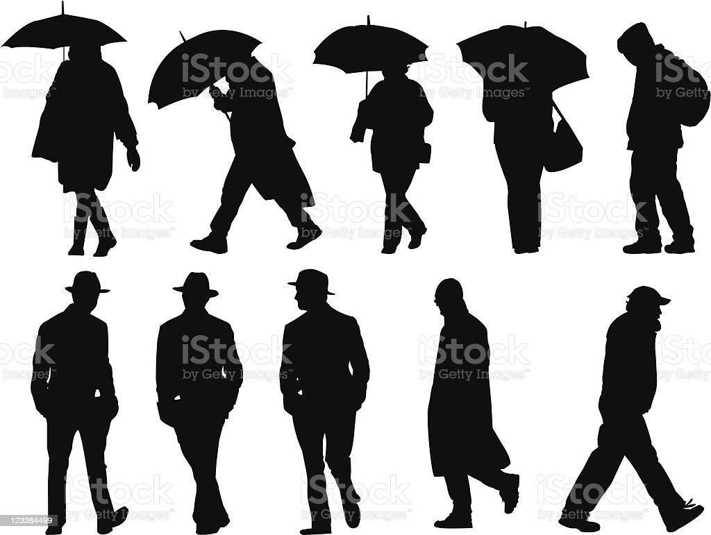 Silhouettes from street royalty-free stock vector art