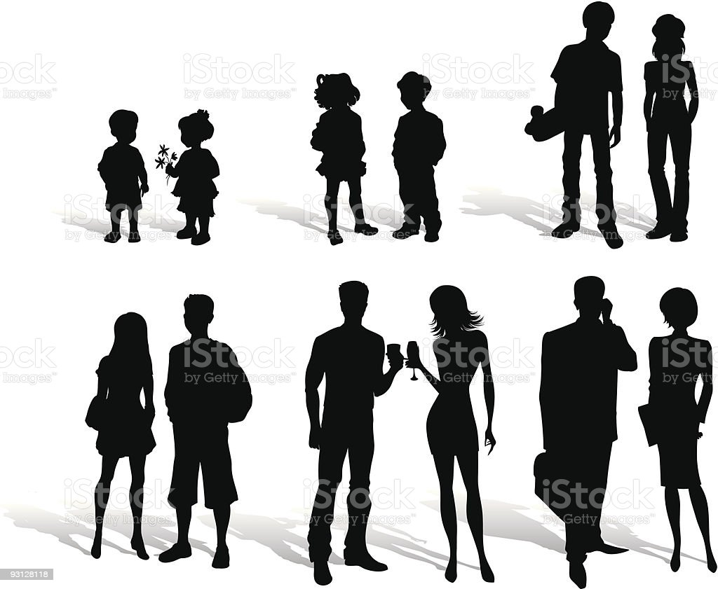 Silhouettes of people royalty-free stock vector art
