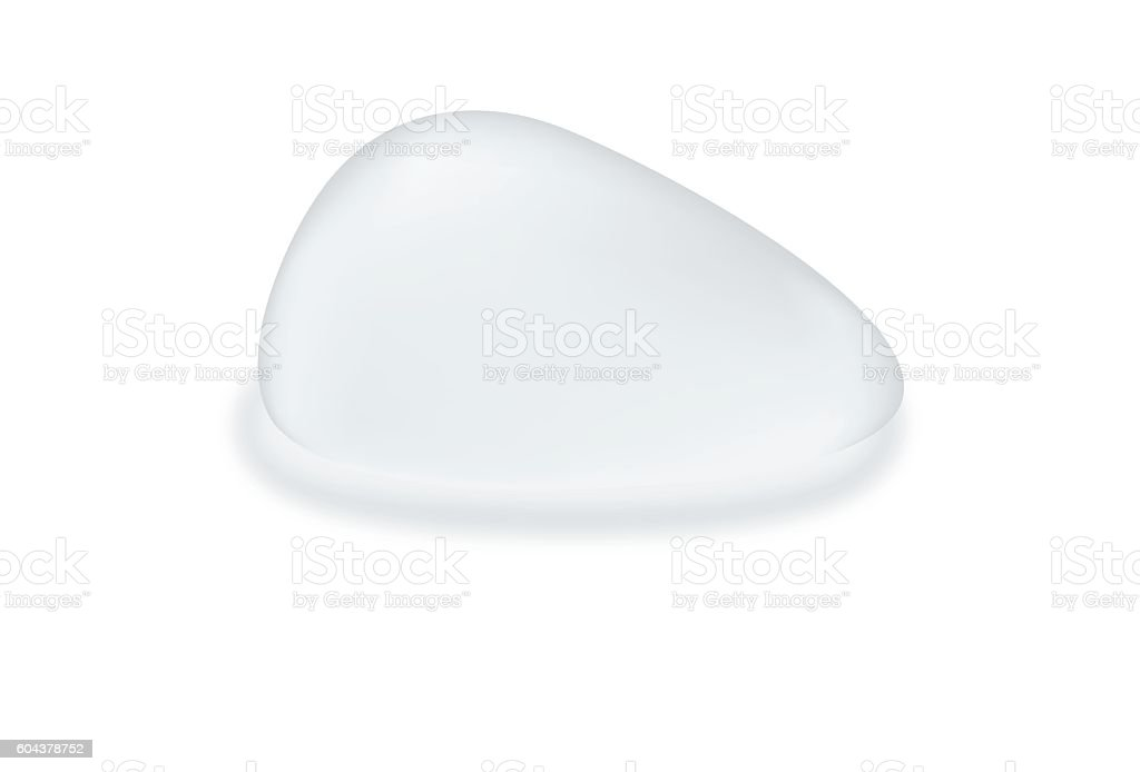 Silicone breast textured teardrop shape. vector art illustration