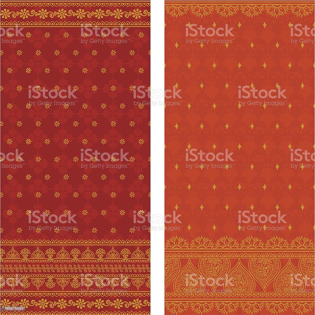 Silk Saris royalty-free stock vector art